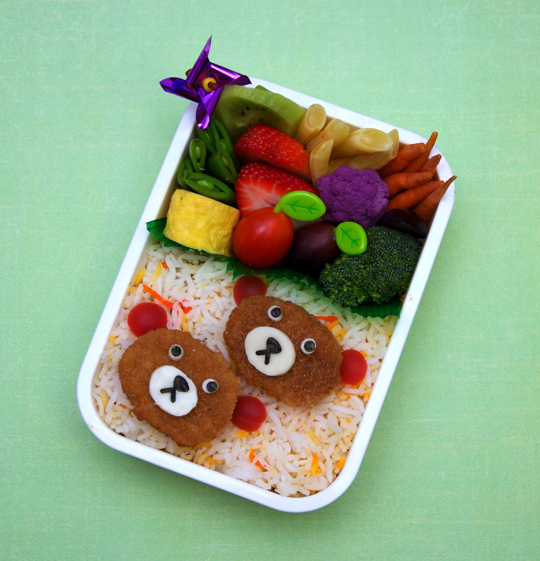 Bento ours nuggets